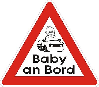 "Auto KFZ Magnetschild ""Baby an Bord ""  13 x 15 Junge"