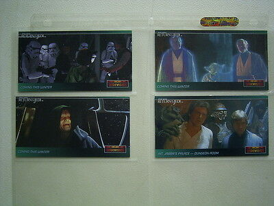 Star Wars Topps Widevision Return of the Jedi  PROMO Set ~ 4  Cards 1995 (EB1)
