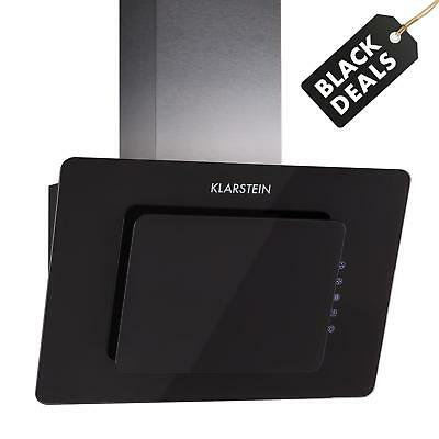 New 60 Cm Kitchen Extractor Cooker Hood 65W 270M³/h Touch Glass Black