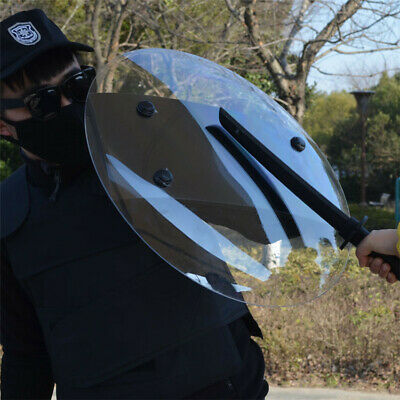 [NEW] 1PCS Only Transparent PC Hand-held Shield Police SWAT Riot Shield For Secu