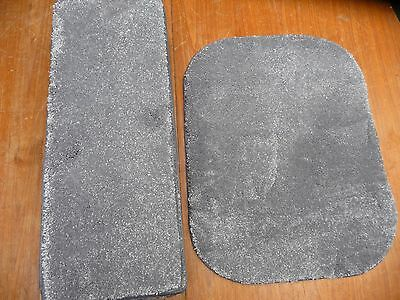 12x STAIR PADS GREY THICK SOFT SILKLY PILE FREE MATCHING RUG BN CHEAP #3077