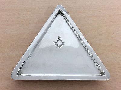 Antique Silver Plated Masonic Freemasons Dish 1900