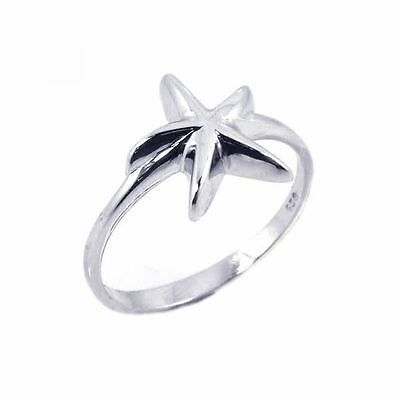 925 Silver Plt Statement Star Starfish Band Ring Thumb Shooting Cocktail A