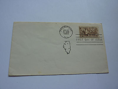 First Day Issue Cover - LINCOLN-DOUGLAS-DEBATE 1958 FDC