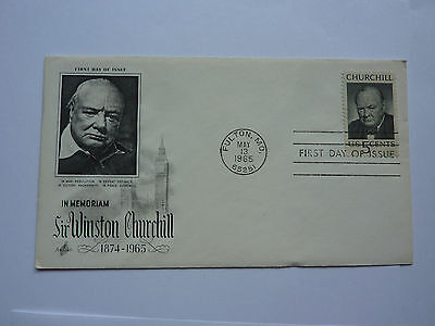 First Day Issue Cover SIR WINSTON CHURCHILL FULTON,MO 1965 FDC Prime Minister