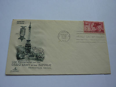 First Day Issue Cover GAR, Civil War Veterans, GRAND ARMY of the REPUBLIC FDC