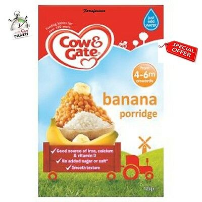 (1-8) Cow & Gate Banana Porridge 125gm