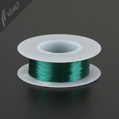 31 AWG Gauge Magnet Wire Green 500' 155C Solderable Enameled Copper Coil Wind S
