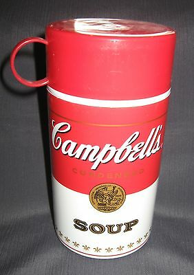"""Campbell's Soup Thermos - 6.5"""" Tall - 3 Piece"""