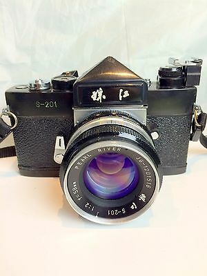 Pearl River S-201 Camera with 58mm f2 lens made in Guangzhou, China.