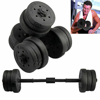20Kg Dumbbells Set Gym Dumbells Weights Biceps Workout Exercise Training Fitness