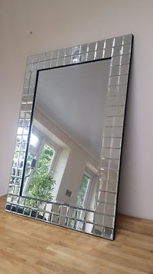 Bevelled Mirror Framed Wall Mirror (Amazing Quality) 70 Cm X 95 Cm Free Dilevery