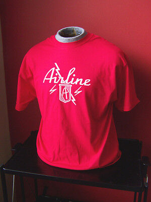 **NEW VINTAGE** AIRLINE GUITAR T-SHIRT SIZES S-XL and all other sizes