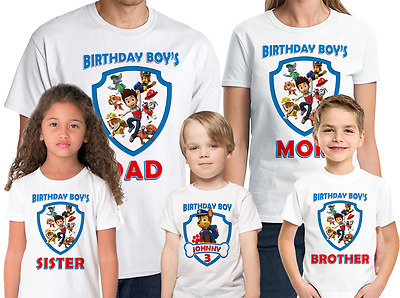 Paw Patrol Shirt Customized Chase Birthday T-Shirt Custom Name and Age
