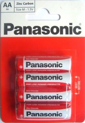 Genuine Panasonic Heavy Duty AA Batteries R6 Size-M 1.5V Zinc Carbon PACK 8 UK