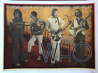 The Who Signed Official Show Poster Chuck Sperry Pete Townshend Autographed Rare