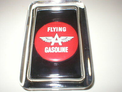 Flying A Tydol Oil Gas Station Color Advertising Sign  Logo Glass Paperweight