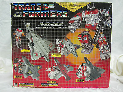 Transformers Superion G1 Figure Giftset Complete Original Canada French Vintage