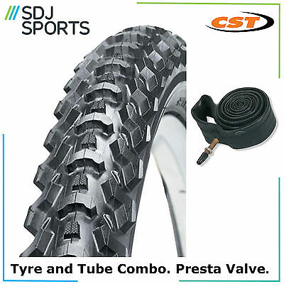 "1X Cst Eiger 26"" X 1.95 Mtb Mountain Bike Tire With Presta Inner Tube"
