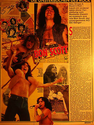 1 german clipping AC/DC BON SCOTT SHIRTLESS ANGUY YOUNG ROCK BOY BAND BOYS GROUP