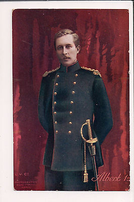 Vintage Postcard King Albert I of Belgium