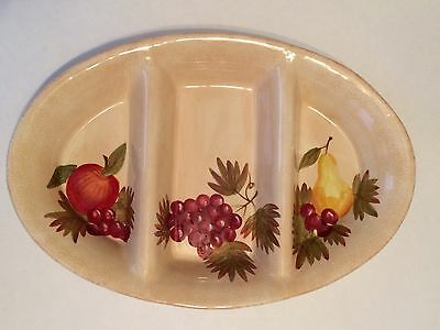 Tabletop Galleries Tuscan Orchard Separated  Oval Ceramic Serving Dish