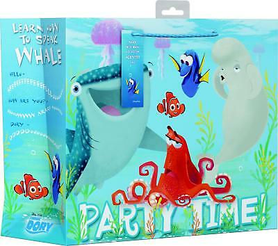 Pack Of 2 Large Finding Dory Licensed Kids Gift Bags With Gift Tag