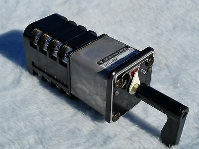 GE General Electric SBM Rotary Switch D3B94T1S2P1