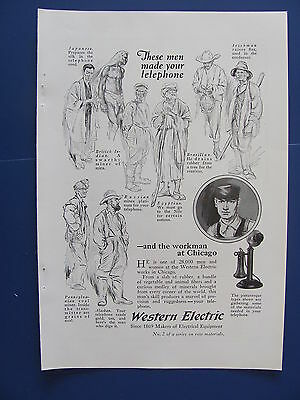 1923 Western Electric Ad  These Men Made Your Telephone
