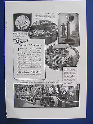 1923 Western Electric Ad  Paper In Your Telephone