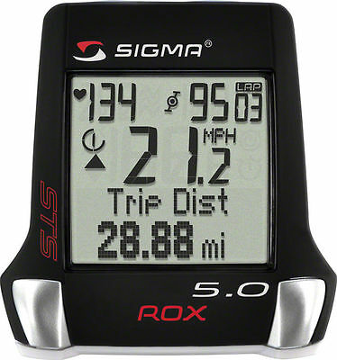 Sigma ROX 5.0 Wireless Bike Computer Cadence Heart Rate Monitor Running 0517
