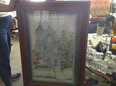 Plastic framed matted picture