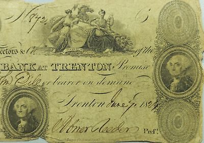1824 State Bank of Trenton New Jersey $2 Obsolete Banknote #247