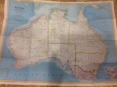 2 maps 1979 NATIONAL GEOGRAPHIC SOCIETY LARGE MAP - AUSTRALIA 1978 Grand canyon