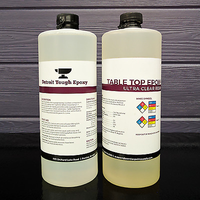 ULTRA CLEAR EPOXY RESIN - Bar Tops, Table Tops, & Wood Coating (32oz Kit)