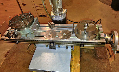 """Emco Maximat Standard Rotary Indexing Table w/ 4"""" Chuck & Centering Ring 0218"""