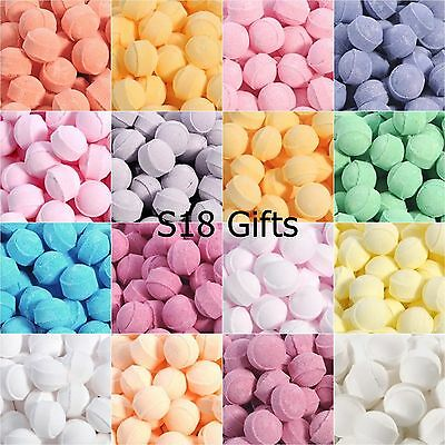 100 Assorted Mixed Scented Mini Bath Bombs Marbles Fizzers, Ideal Gift or Favour