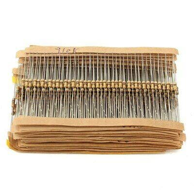 [NEW] 860 Pcs 1-1M ohm Metal Film Resistance 43 Value 1/4W Resistor Assorted Kit