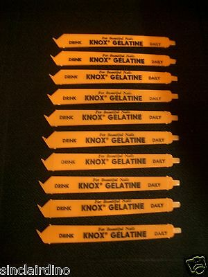 For Beautiful Nails Drink KNOX GELATINE Daily 10 NOS Nail Files Emery Boards