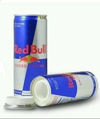 Red bull 8.4oz soft drink Diversion Safe Can Secret Hidden Container