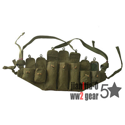 Original Chinese Army Type 56 Chest Rig Mag Bag Pouch Vietnam War Green