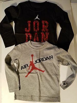 Air Jordan  Toddler Boys Long Sleeve T Shirt  Size 2T 3T or 4T NWT