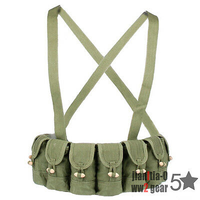 Original Vietnam War Chinese Type 56 Semi Sks Chest Rig Mag BANDOLIER Pouch