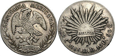 MEXICO: 1886 CA MM 8 Reales #WC69430