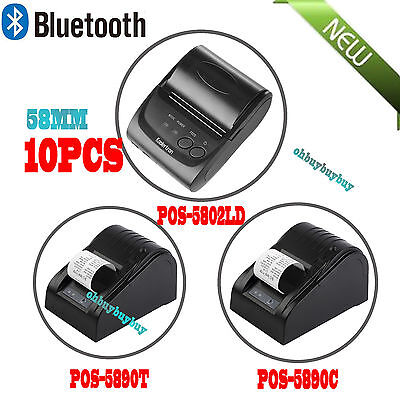 LOT 15 Wireless Bluetooth Thermal Receipt Printer 58mm Line Mobile POS Android