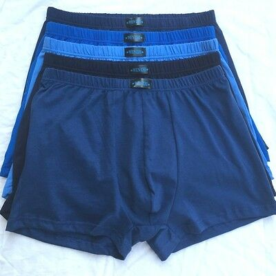 5 Pcs Men Plus Size Cotton Underwear Boxer Briefs Underpants Trunks Shorts Soft