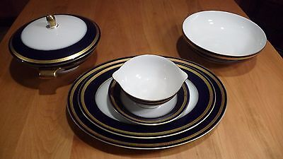 ROSENTHAL, Eminence Cobalt, CHINA / 5 Serving Pieces.