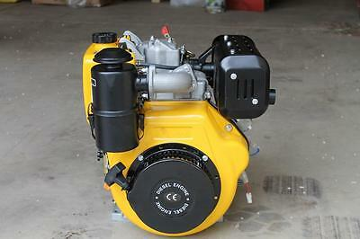 Stationary diesel engine, 438cc 188FA, 25mm dia. shaft, electric & pull start