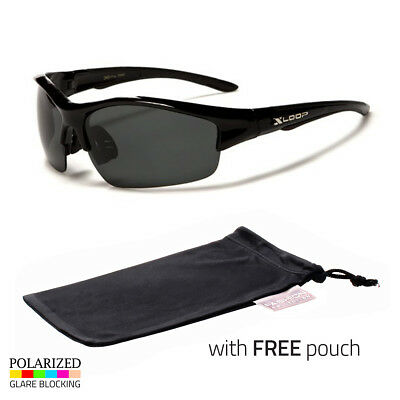 Polarized Men Wrap Around Fashion Sunglasses Fishing Black Sport Glasses Pouch a