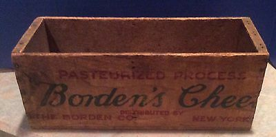 Vintage Borden's Cheese, NY Wood Cheese Crate